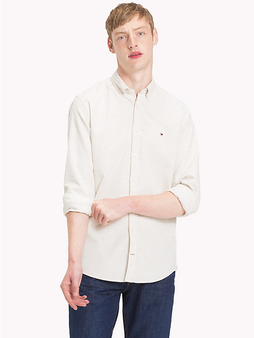 TOMMY HILFIGER Corduroy Button-Down Shirt - WHISPER WHITE HEATHER - TOMMY HILFIGER Casual Shirts - detail image 1