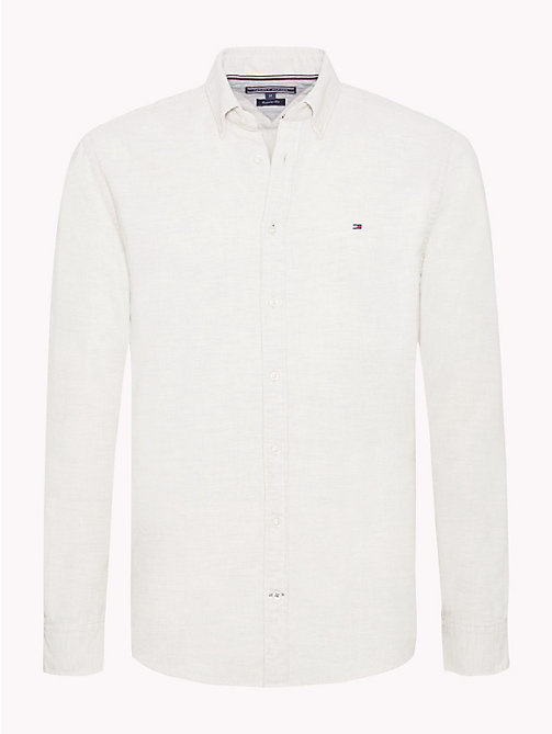 TOMMY HILFIGER Button-down-Hemd aus Cord - WHISPER WHITE HEATHER - TOMMY HILFIGER Freizeithemden - main image