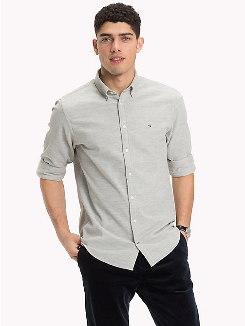 TOMMY HILFIGER Corduroy Button-Down Shirt - CLOUD HTR - TOMMY HILFIGER Casual Shirts - detail image 1