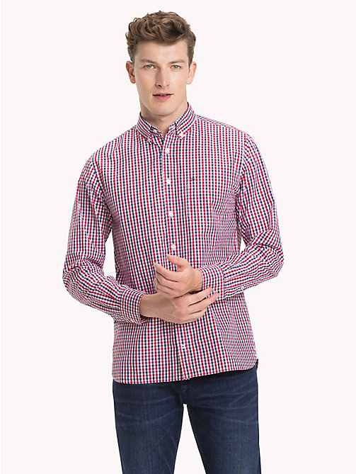 TOMMY HILFIGER Gingham Check Shirt - MEDIEVAL BLUE / HAUTE RED - TOMMY HILFIGER Casual Shirts - detail image 1
