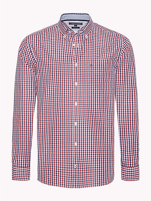 TOMMY HILFIGER Gingham Check Shirt - MEDIEVAL BLUE / HAUTE RED - TOMMY HILFIGER Casual Shirts - main image