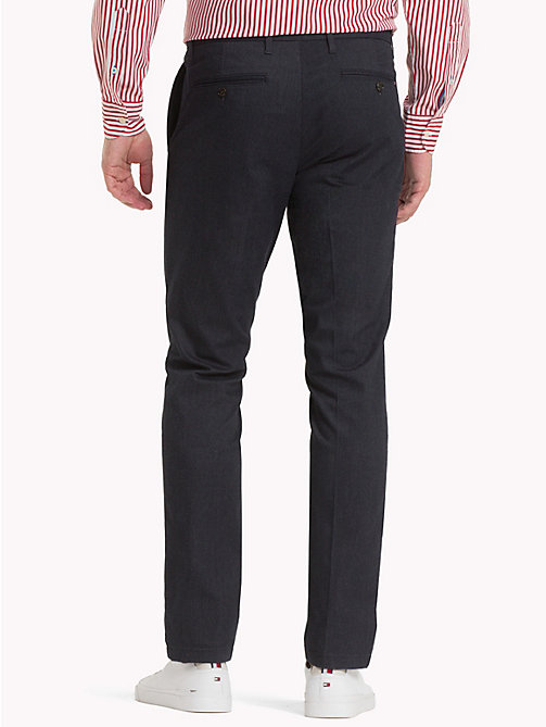TOMMY HILFIGER Herringbone Straight Fit Chinos - SKY CAPTAIN - TOMMY HILFIGER What to wear - detail image 1