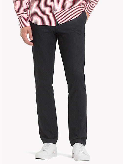 TOMMY HILFIGER Herringbone Straight Fit Chinos - SKY CAPTAIN - TOMMY HILFIGER What to wear - main image