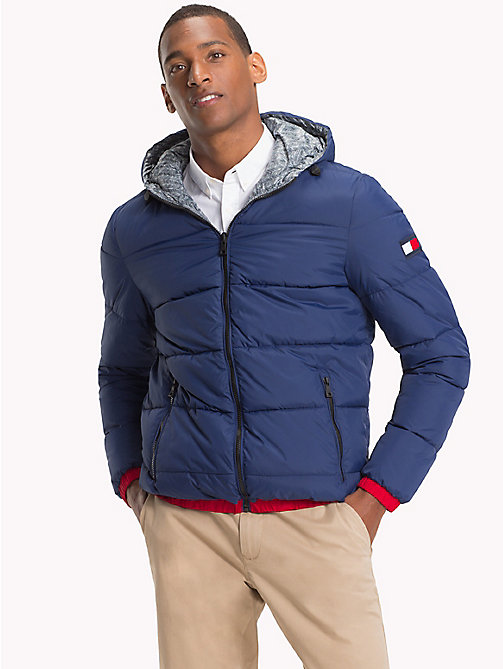 TOMMY HILFIGER Reversible Hooded Bomber Jacket - MEDIEVAL BLUE - TOMMY HILFIGER Clothing - main image
