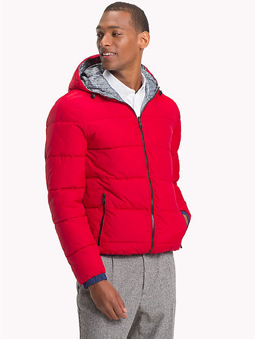 TOMMY HILFIGER Reversible Hooded Bomber Jacket - HAUTE RED - TOMMY HILFIGER Clothing - main image