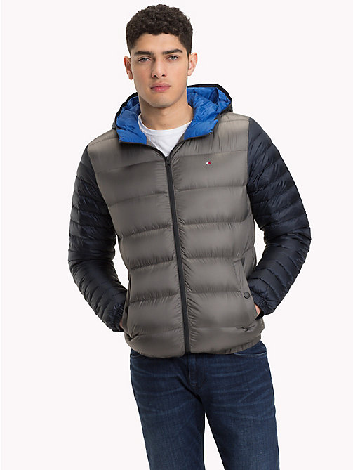 TOMMY HILFIGER Hooded Down Jacket - EIFFEL TOWER - TOMMY HILFIGER Jackets - main image