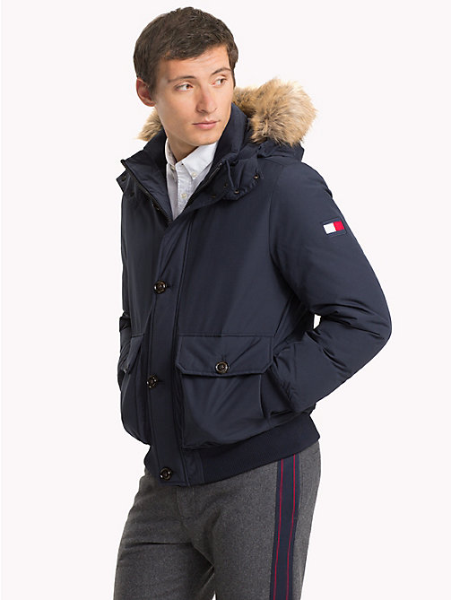 TOMMY HILFIGER Down Bomber Jacket - 413-SKY CAPTAIN - TOMMY HILFIGER Coats & Jackets - main image