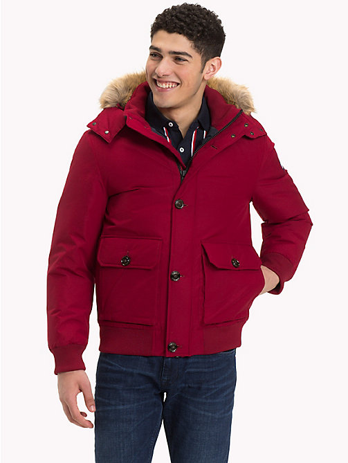 TOMMY HILFIGER Down Bomber Jacket - RHUBARB - TOMMY HILFIGER Clothing - main image