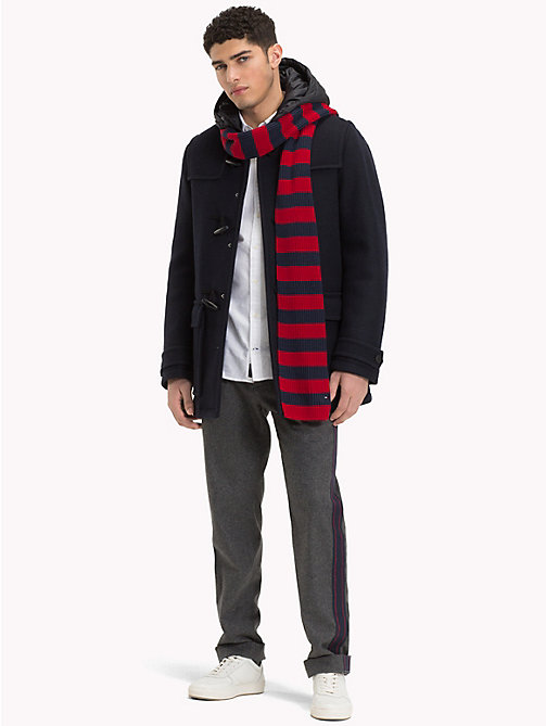 TOMMY HILFIGER Wool Jersey Hooded Duffel - SKY CAPTAIN - TOMMY HILFIGER Coats & Jackets - detail image 1