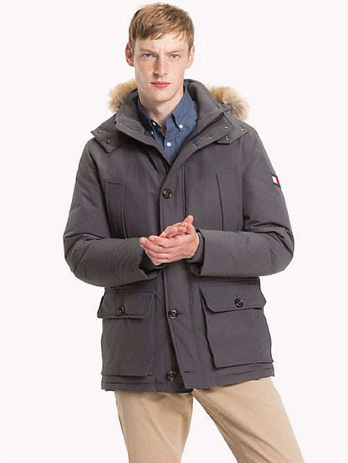 TOMMY HILFIGER Down Parka Jacket - MAGNET -  Clothing - main image