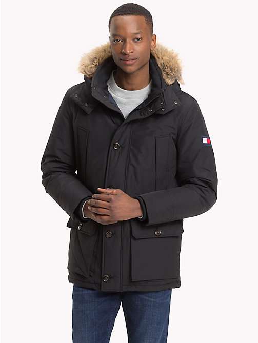 TOMMY HILFIGER Down Parka Jacket - JET BLACK - TOMMY HILFIGER Coats - main image