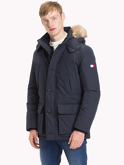 TOMMY HILFIGER Down Parka Jacket - 413-SKY CAPTAIN -  Coats - main image