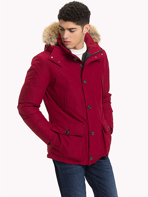 TOMMY HILFIGER Down Parka Jacket - RHUBARB - TOMMY HILFIGER Clothing - main image