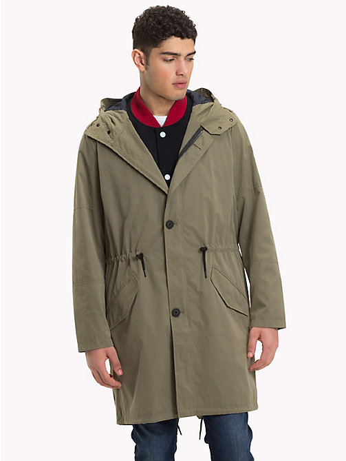 TOMMY HILFIGER Reversible Peached Parka - DUSTY OLIVE - TOMMY HILFIGER Coats & Jackets - main image