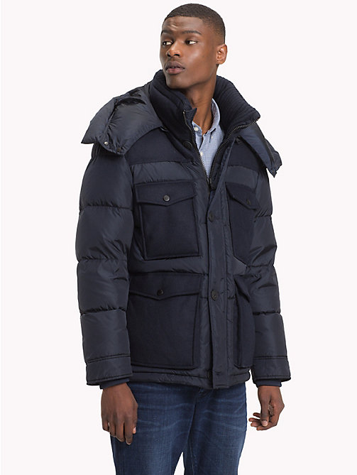 TOMMY HILFIGER Hooded Down Jacket - 413-SKY CAPTAIN - TOMMY HILFIGER Jackets - main image
