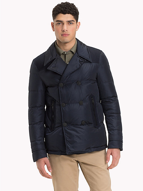 TOMMY HILFIGER Down Padded Pea Coat - 413-SKY CAPTAIN - TOMMY HILFIGER NEW IN - main image