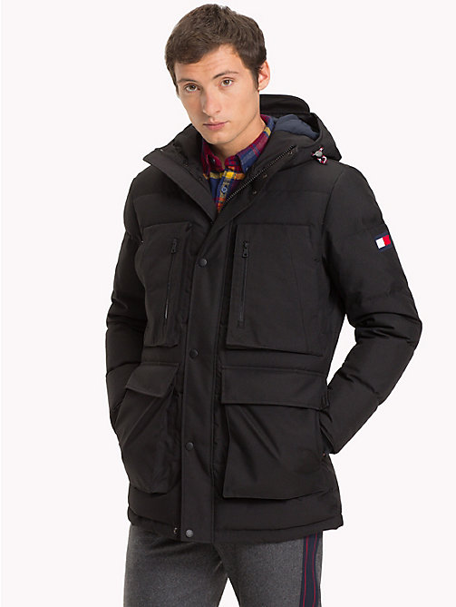 TOMMY HILFIGER Heavy Canvas Down Parka - JET BLACK - TOMMY HILFIGER Parka Coats - main image
