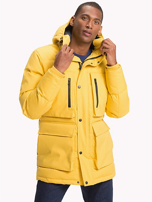 TOMMY HILFIGER Heavy Canvas Down Parka - CEYLON YELLOW - TOMMY HILFIGER Coats & Jackets - main image