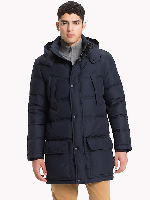 TOMMY HILFIGER Hooded Padded Parka - 413-SKY CAPTAIN - TOMMY HILFIGER Parka Coats - main image