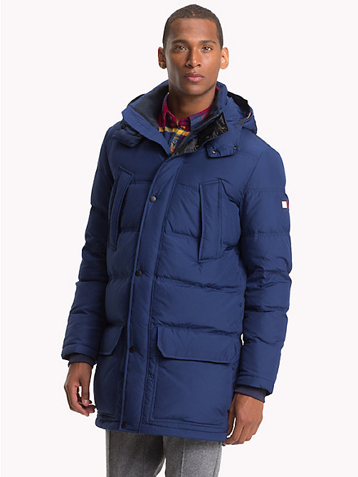 TOMMY HILFIGER Hooded Padded Parka - MEDIEVAL BLUE - TOMMY HILFIGER NEW IN - main image