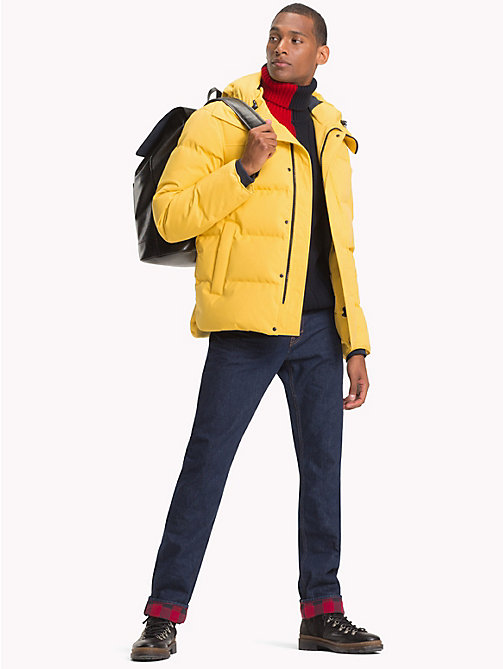 TOMMY HILFIGER Canvas Down Bomber Jacket - CEYLON YELLOW - TOMMY HILFIGER Jackets - detail image 1