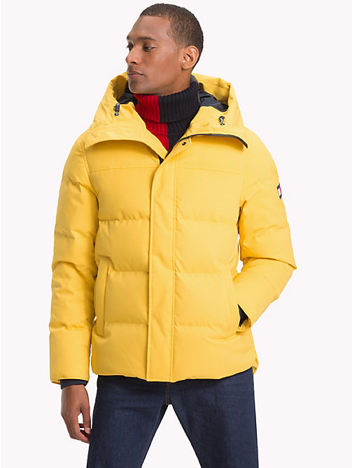TOMMY HILFIGER Daunen-Bomberjacke aus Canvas - CEYLON YELLOW - TOMMY HILFIGER NEW IN - main image