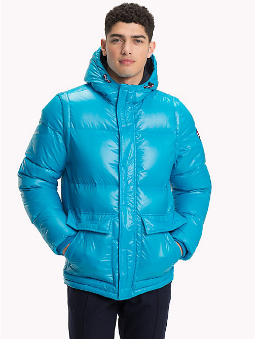 TOMMY HILFIGER Hooded Down Bomber Jacket - VIVID BLUE - TOMMY HILFIGER Coats & Jackets - main image