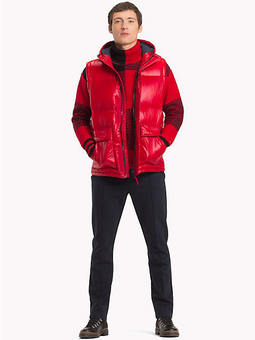 TOMMY HILFIGER Hooded Down Bomber Jacket - HAUTE RED - TOMMY HILFIGER Jackets - detail image 1