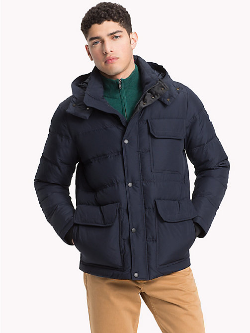 TOMMY HILFIGER Utilitarian Hooded Bomber Jacket - 413-SKY CAPTAIN - TOMMY HILFIGER Jackets - main image