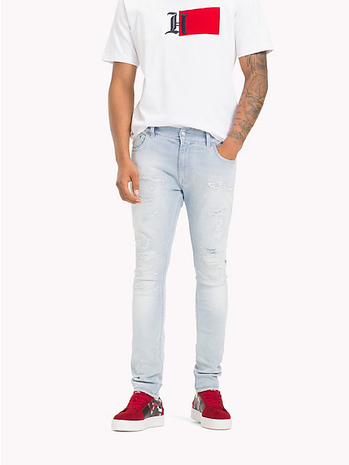 TOMMY HILFIGER Lewis Hamilton Distressed Jeans - INDIGO REPAIR - TOMMY HILFIGER TOMMY NOW MEN - main image