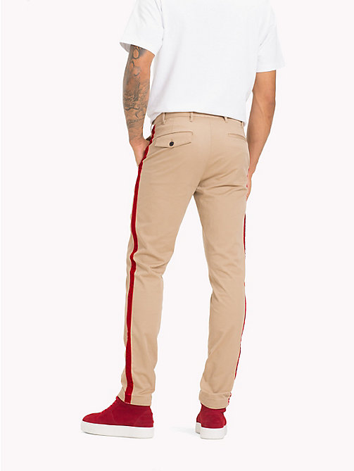 TOMMY HILFIGER Lewis Hamilton Straight Leg Chinos - BATIQUE KHAKI - TOMMY HILFIGER TOMMY NOW MEN - detail image 1
