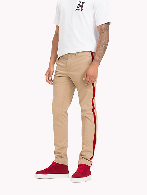 TOMMY HILFIGER Lewis Hamilton Straight Leg Chinos - BATIQUE KHAKI - TOMMY HILFIGER TOMMY NOW MEN - main image