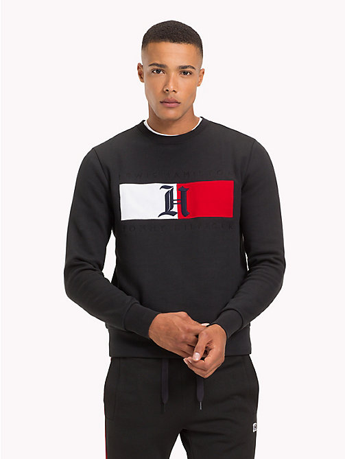 TOMMY HILFIGER Lewis Hamilton Flag Sweatshirt - JET BLACK - TOMMY HILFIGER TOMMY NOW MEN - main image
