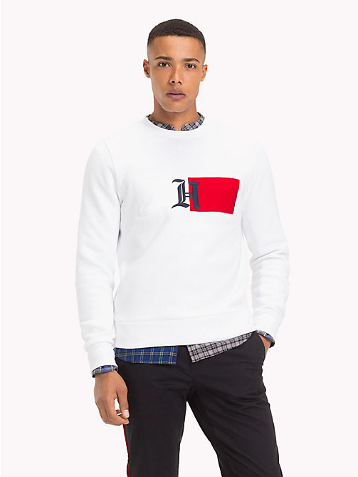 TOMMY HILFIGER Lewis Hamilton Flag Sweatshirt - BRIGHT WHITE - TOMMY HILFIGER Clothing - main image