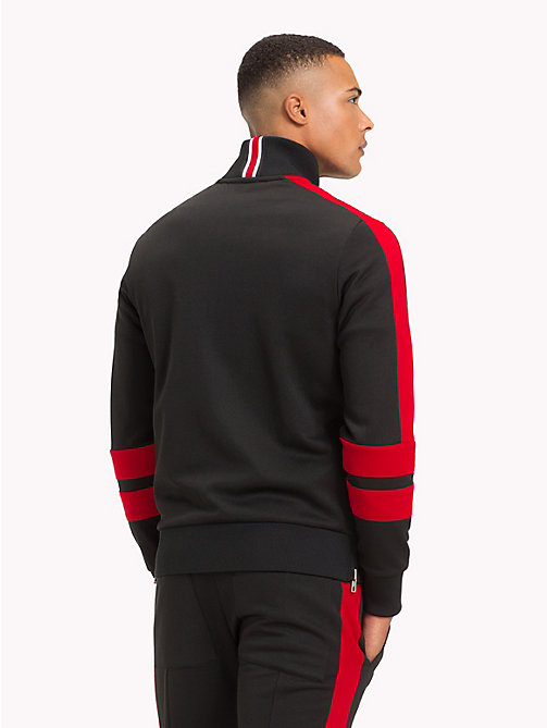 TOMMY HILFIGER Lewis Hamilton Striped Tracksuit Top - JET BLACK - TOMMY HILFIGER TOMMY NOW MEN - detail image 1