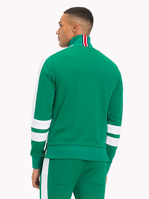 TOMMY HILFIGER Lewis Hamilton Striped Tracksuit Top - ULTRAMARINE GREEN - TOMMY HILFIGER TOMMY NOW MEN - detail image 1