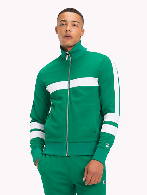 TOMMY HILFIGER Lewis Hamilton Striped Tracksuit Top - ULTRAMARINE GREEN - TOMMY HILFIGER TOMMY NOW MEN - main image
