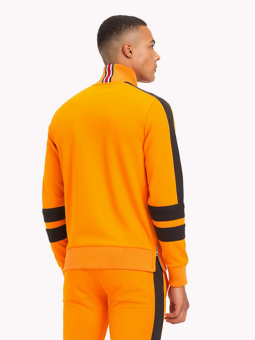 TOMMY HILFIGER Lewis Hamilton Striped Tracksuit Top - ORANGE POPSICLE - TOMMY HILFIGER TOMMY NOW MEN - detail image 1