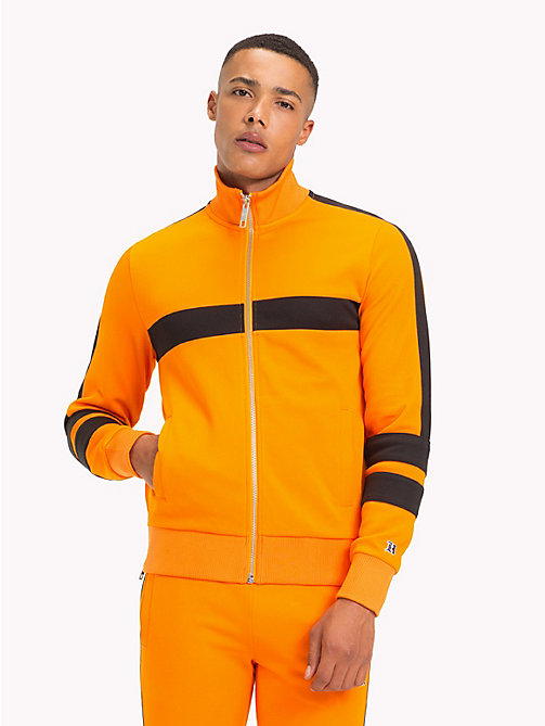 TOMMY HILFIGER Lewis Hamilton Striped Tracksuit Top - ORANGE POPSICLE - TOMMY HILFIGER TOMMY NOW MEN - main image