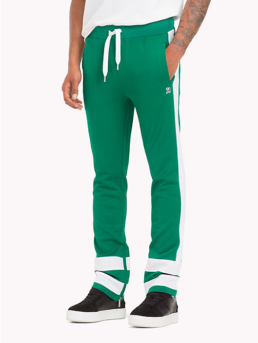 TOMMY HILFIGER Lewis Hamilton Contrast Stripe Tracksuit - ULTRAMARINE GREEN -  TOMMY NOW MEN - main image