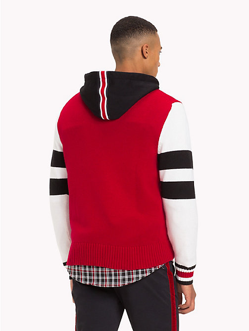 TOMMY HILFIGER Lewis Hamilton Varsity-Pullover - BARBADOS CHERRY - TOMMY HILFIGER TOMMYXLEWIS - main image 1