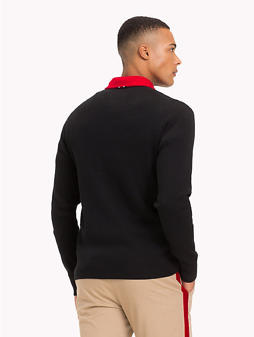 TOMMY HILFIGER Lewis Hamilton Long Sleeve Polo Shirt - JET BLACK - TOMMY HILFIGER TOMMYXLEWIS - detail image 1