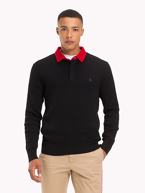 TOMMY HILFIGER Lewis Hamilton Long Sleeve Polo Shirt - JET BLACK - TOMMY HILFIGER Clothing - main image