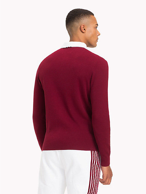 TOMMY HILFIGER Lewis Hamilton Long Sleeve Polo Shirt - CABERNET - TOMMY HILFIGER TOMMY NOW MEN - detail image 1