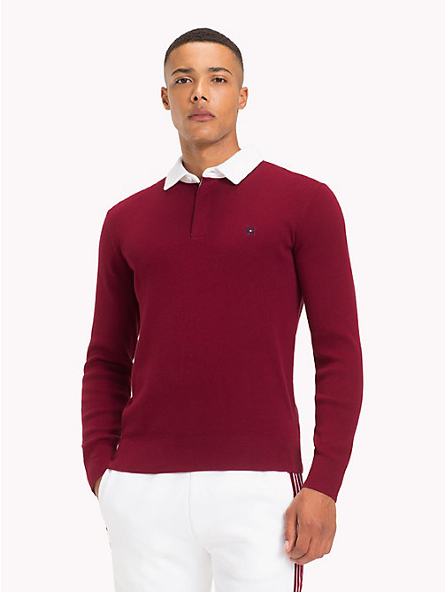 TOMMY HILFIGER Lewis Hamilton Long Sleeve Polo Shirt - CABERNET - TOMMY HILFIGER TOMMY NOW MEN - main image