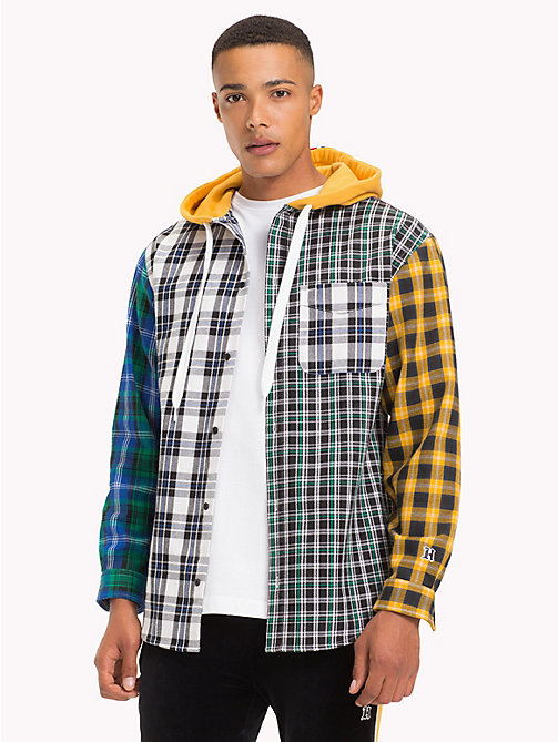 TOMMY HILFIGER Lewis Hamilton Check Hoodie Shirt - GOLDEN YELLOW / MULTI - TOMMY HILFIGER TOMMY NOW MEN - detail image 1