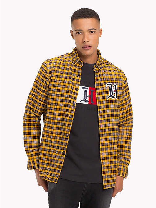 TOMMY HILFIGER Lewis Hamilton Logo Shirt - GOLDEN YELLOW / MULTI -  TOMMY NOW MEN - detail image 1