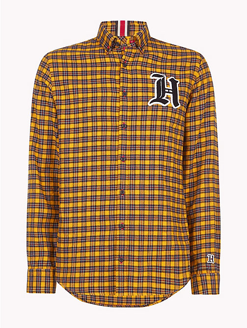 TOMMY HILFIGER Lewis Hamilton Logo Shirt - GOLDEN YELLOW / MULTI - TOMMY HILFIGER TOMMY NOW MEN - main image