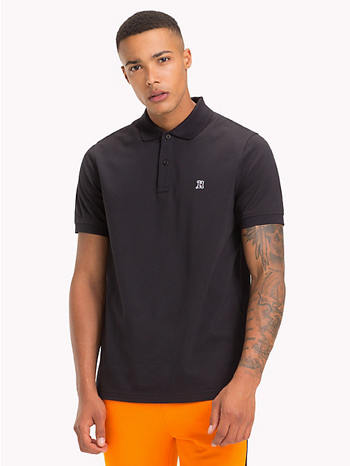 TOMMY HILFIGER Lewis Hamilton Logo Polo Shirt - JET BLACK - TOMMY HILFIGER TOMMY NOW MEN - main image