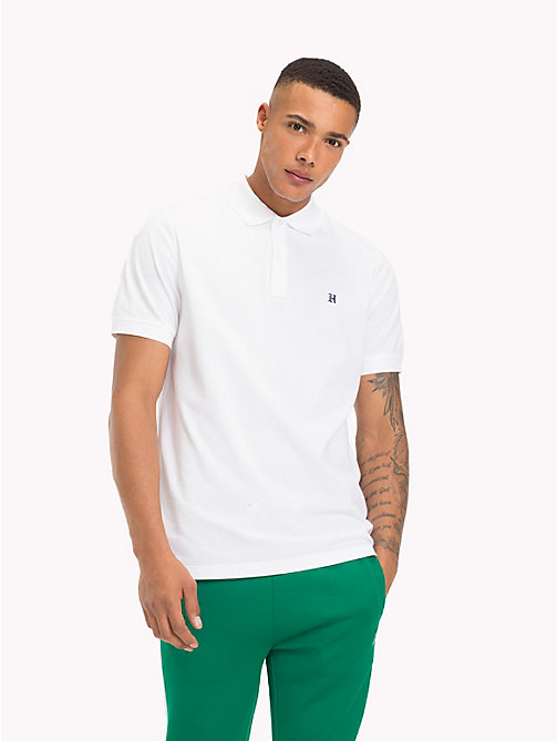 TOMMY HILFIGER Lewis Hamilton Logo Polo Shirt - BRIGHT WHITE - TOMMY HILFIGER Clothing - main image